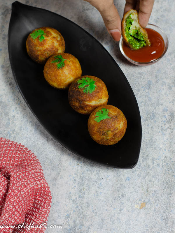 potato chutney bombs